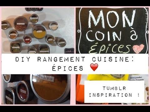 DIY ~Tumblr inspiration~ Rangement cuisine pour vos épices!