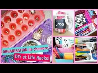ORGANISATION de chambre | DIY & Life Hacks!
