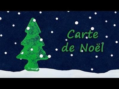 DIY Carte de Noël: Sapin dans la neige