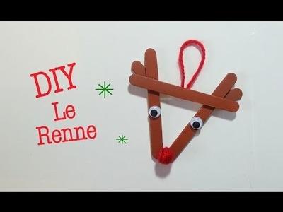 DIY Déco Noel Renne avec bâton de bois