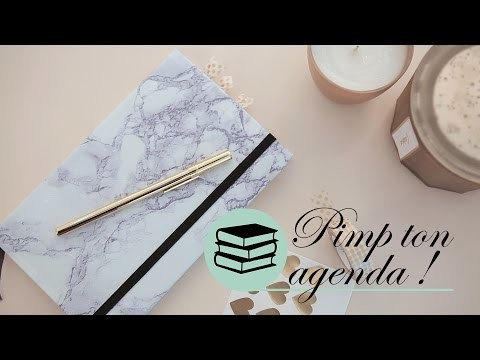 DIY Organisation - Agenda marbré chez Boucle & Papier - Ismérie Anglade