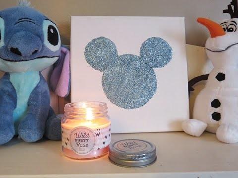 DIY : Tableau à paillette Mickey