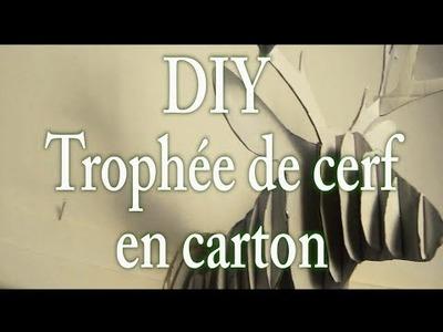 DIY Trophée tête de cerf en carton #MARYxMAS