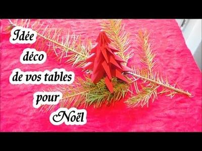 Effet déco Noël : Une idée DIY de décoration pour vos tables