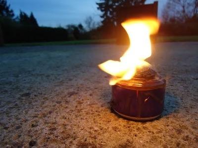 TUTO. DIY Fabriquer une boîte à feu. bougie de survie