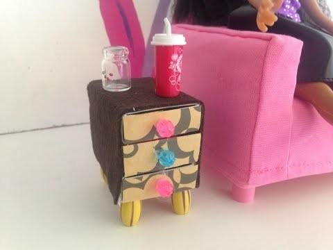 Comment faire une table de chevet pour maison de poupée ~ Tuto ~ DIY (Facile)