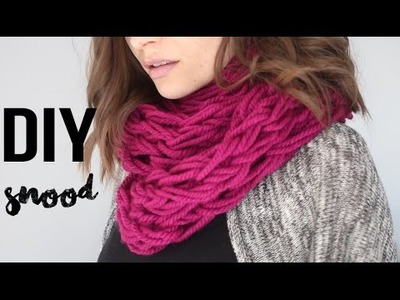 DIY FACILE : ECHARPE.SNOOD - TRICOTER AVEC LES BRAS - DEBUTANT arm knitting infinity scarf