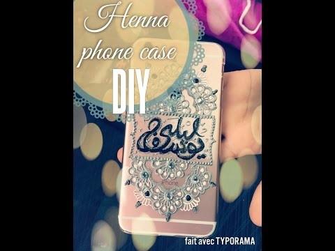 DIY  henna design phone case. coque personnalisée