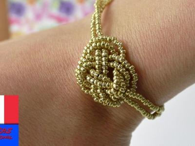 DIY Bracelet- Super bijou pour l'été | Bracelet doré Ethnique, Indien, Boho & Coachella