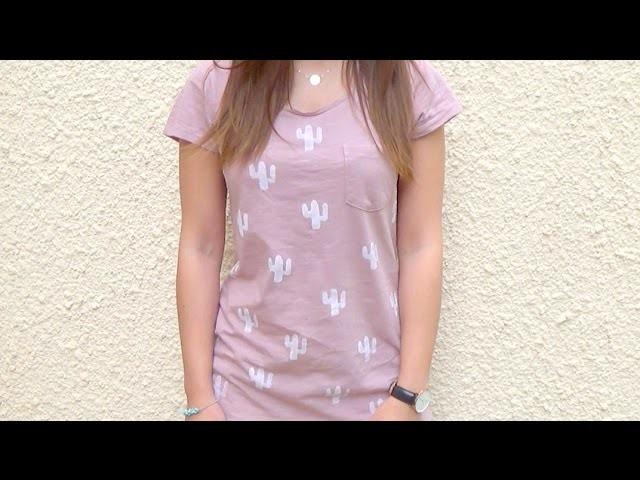 DIY | T-shirt cactus┆Alyssia