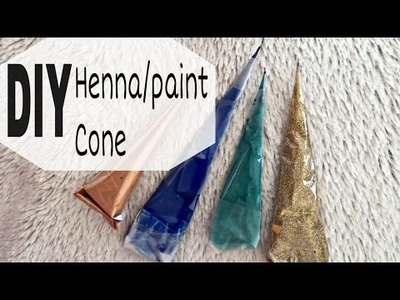 DIY how to make easy henna.paint cone. 2 ways