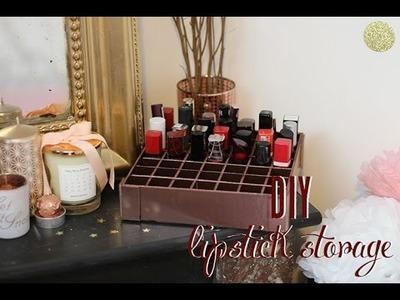 • DIY - Lipstick Storage. Holder - Un rangement à rouges à lèvres •