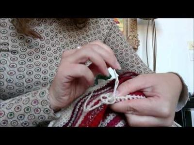 Tuto marguerite au crochet sp cial gaucher - Rentrer les fils tricot ...