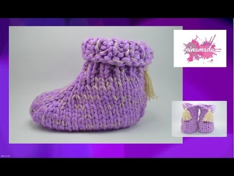 DIY. Comment tricoter des chaussons avec deux aiguilles.How to knit slippers with two needles