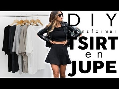 DIY MODE | Transformer son vieux T-shirt en JUPE tendance (FACILE)