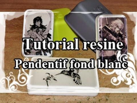 DIY : Resin Tuto.Resine Tutorial N°5 : Faire des Pendentifs avec un fond blanc