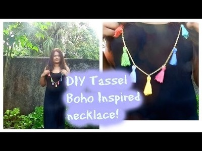 DIY Tassel Necklace BOHO Inspired! Marie-Kate's