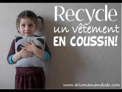 DIY: Transforme un vieux vêtement en coussin !