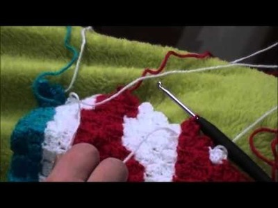 Crochet C2C  tuto changement de fils et couleurs en francais