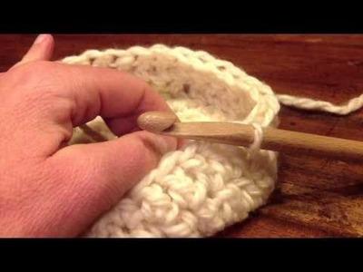 Panier rond au crochet avec anses Sisterskit