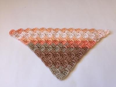 Tuto châle, écharpe corner C2C au crochet