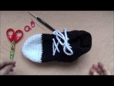Comment faire des chaussons au crochet style converse