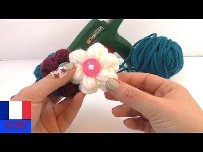 Jolies fleurs de printemps au crochet | Fleurs faites avec les restes de laines et des boutons