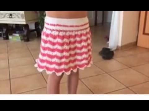 Tuto jupe au crochet spéciale gauchères