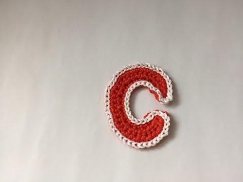 Tuto lettre C au crochet spéciale gauchères