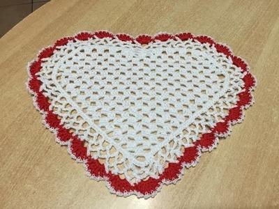 Tuto napperon coeur au crochet
