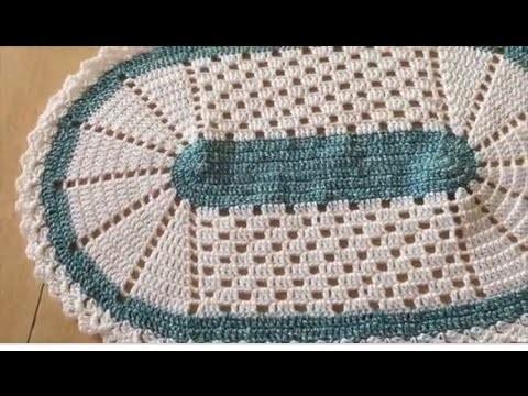 Tuto tapis, napperon au crochet spéciale gauchères