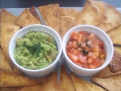 Recette maison de chips mexicaine et guacamole( How to make Tortilla chips and guacamole)