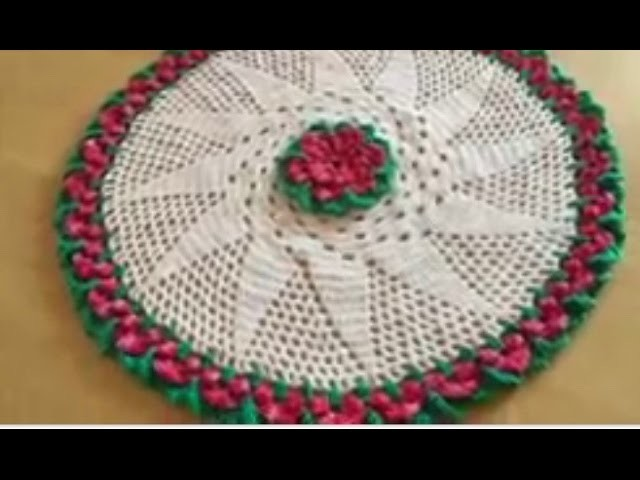 Tuto nappe, tapis fleur au crochet spéciale gauchères