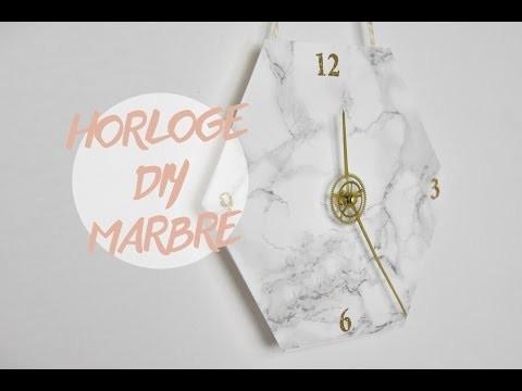 DIY DÉCO : HORLOGE MARBRE