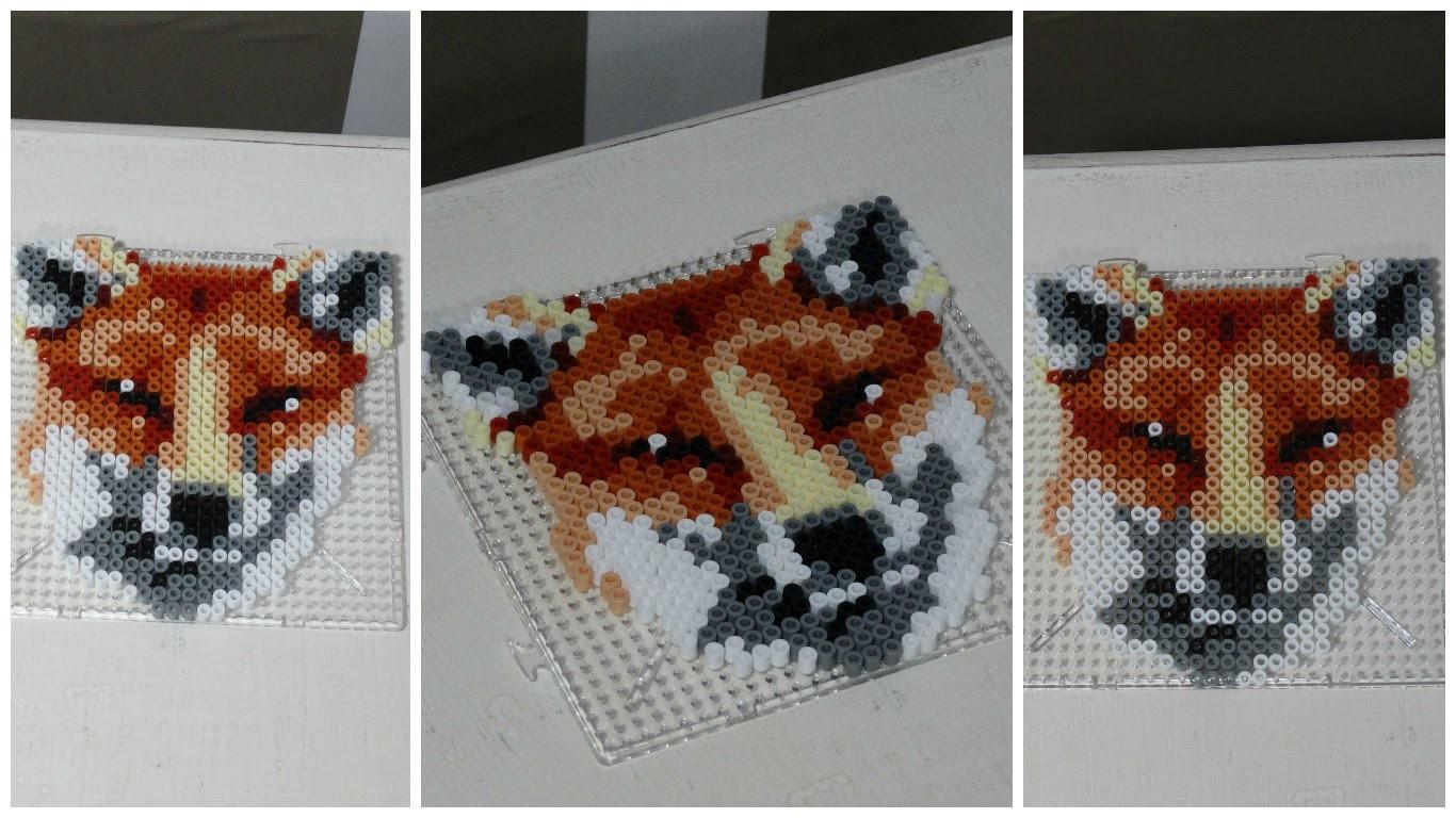 [ DIY ] Fox hama beads. Renard en perles à repasser. Perles Hama