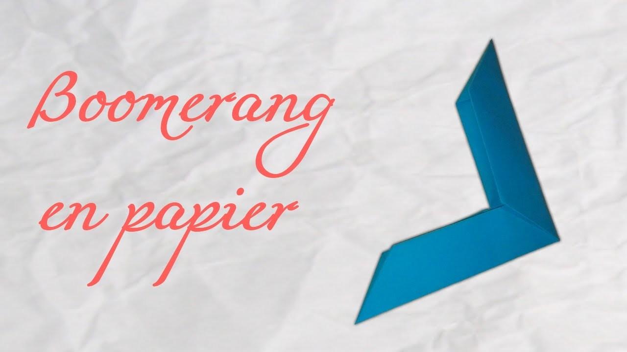 Origami ! Boomerang en papier !