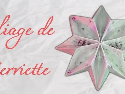 Origami ! Pliage de serviette en flocon de neige !