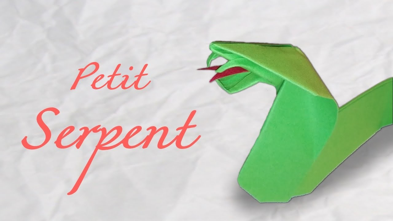 Origami ! Serpent en papier [ Facile ]