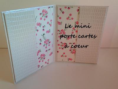 D.I.Y: [cartonnage N°6]: Mini porte cartes
