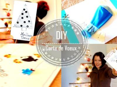 DIY | Fabriquer des Cartes de Vœux - Claire