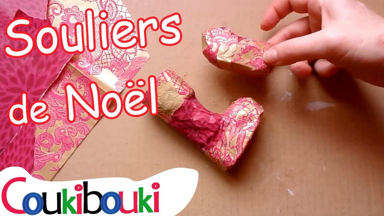 DIY Noël : des minis Souliers de Noël en papier mâché - annonce