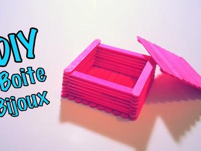 DIY Boite à Bijoux avec Bâtons de Bois.Glace