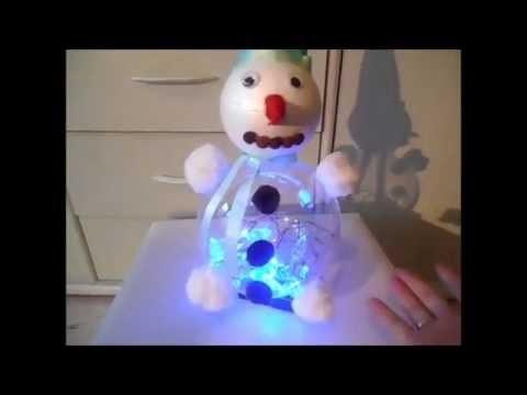 DIY : Bonhomme de neige lumineux