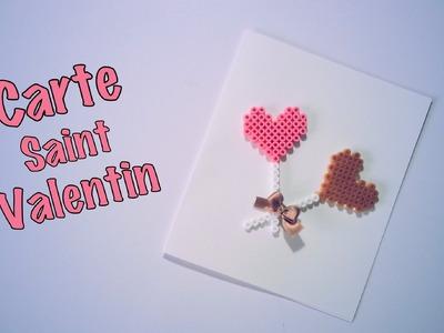 DIY Carte Saint Valentin perles à repasser Hama