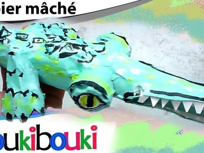 DIY Crocodile en papier mâché | activité artistique pour enfant -  Comment faire ? How to Make ?