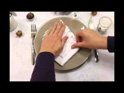 DIY pliage de serviette en sapin de Noël