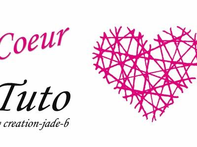 DIY Saint-Valentin- Carte Cœur en Laine !