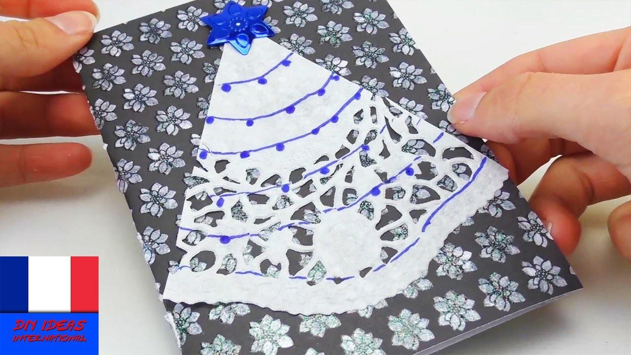 Comment Faire Un Cadeau Soi Meme faire soi-même une carte de noël. carte de voeux diy. pour