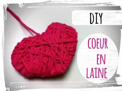 Idée cadeau saint valentin - diy coeur en laine