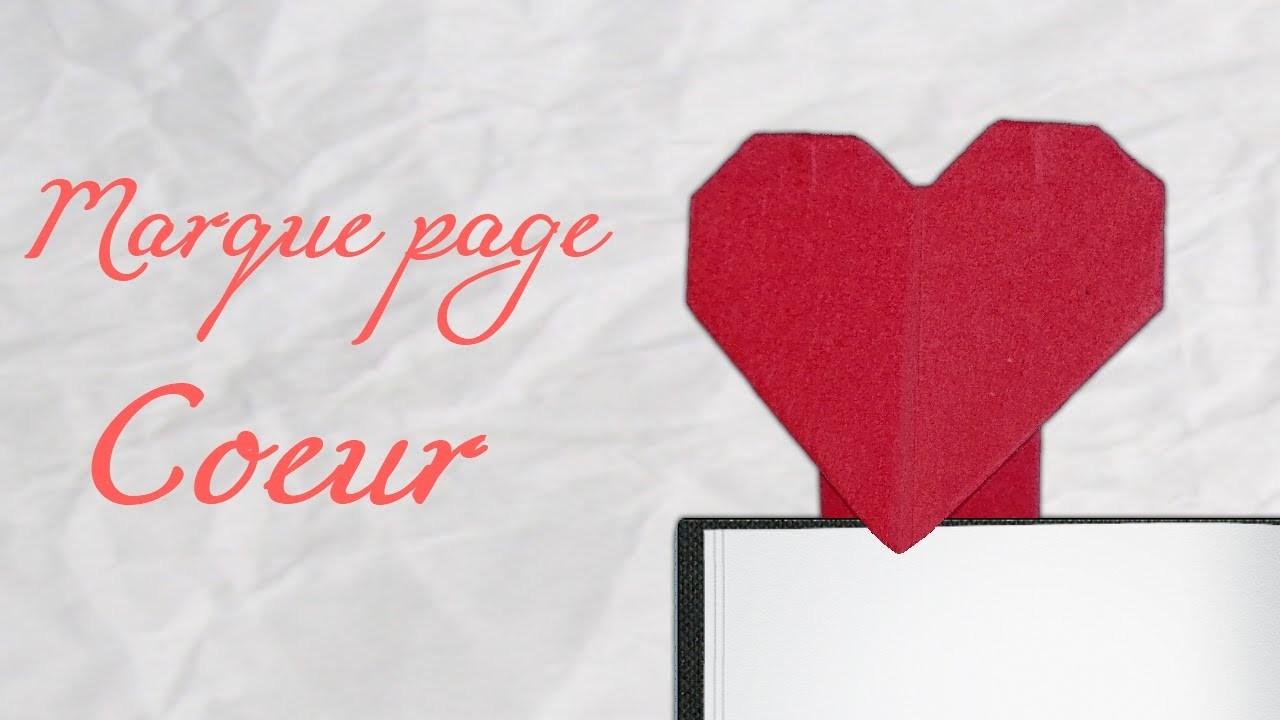 Origami ! Marque page coeur !